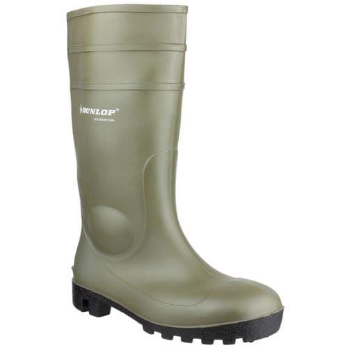 Dunlop Protomastor Safety Wellingtons Green